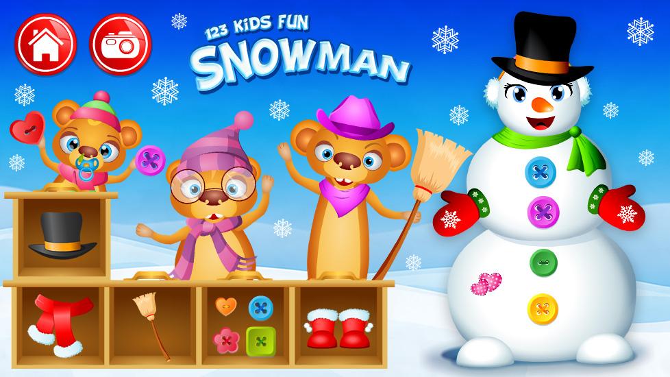 Snowman Christmas Games