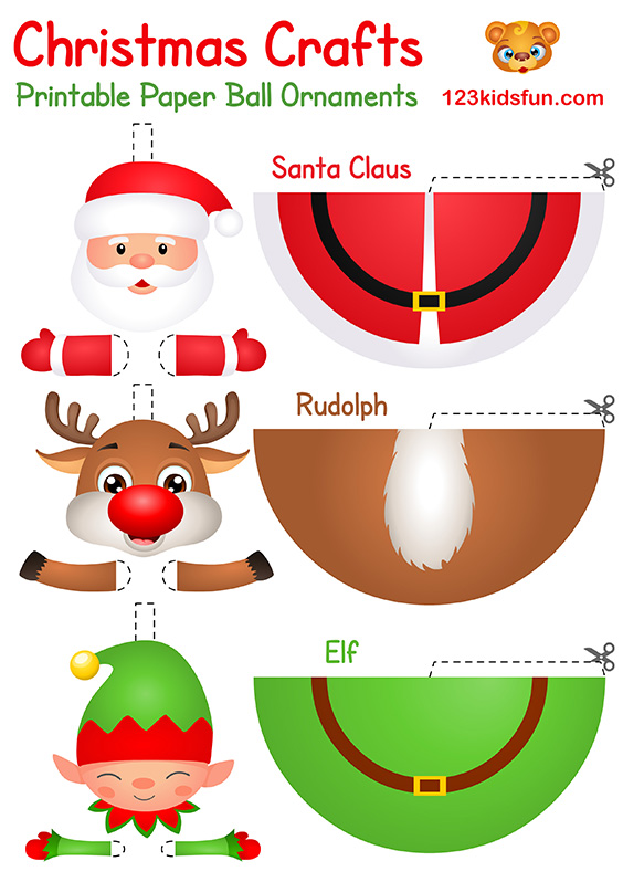 Christmas Crafts for Kids: Santa Claus, Rudolph, Elf