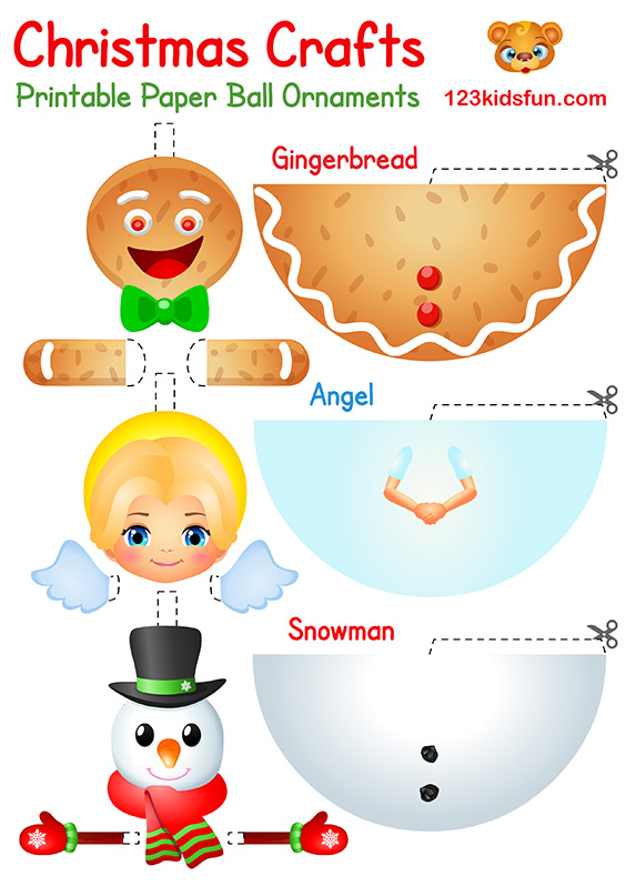 Christmas Crafts for Kids: Gingerbread, Angel, Snowman