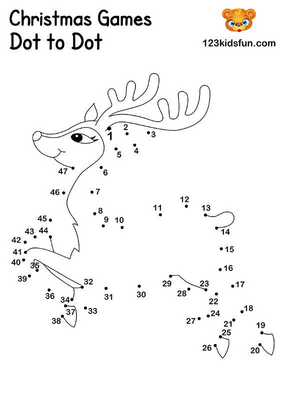 Christmas Games dot-to-dot