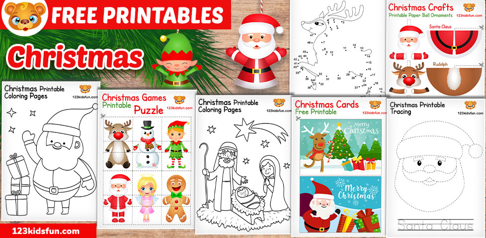 picture about Printable Christmas Crafts called Totally free Xmas Printable 123 Small children Exciting Applications