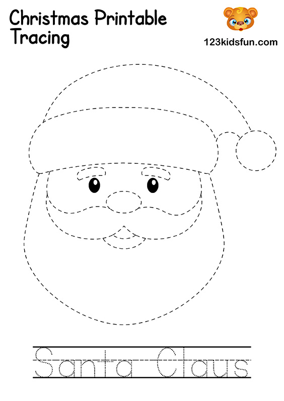 Christmas Tracing - Santa Claus