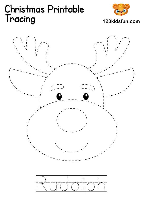 Christmas Tracing - Rudolph