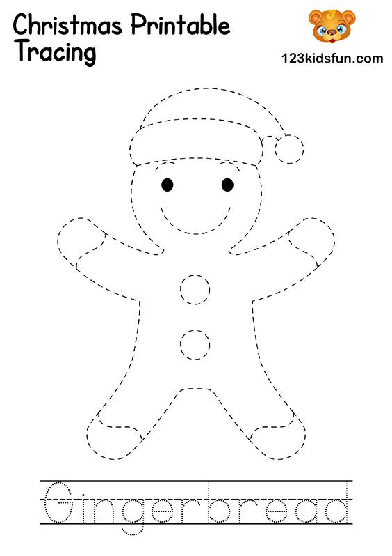 Christmas Tracing - Gingerbread