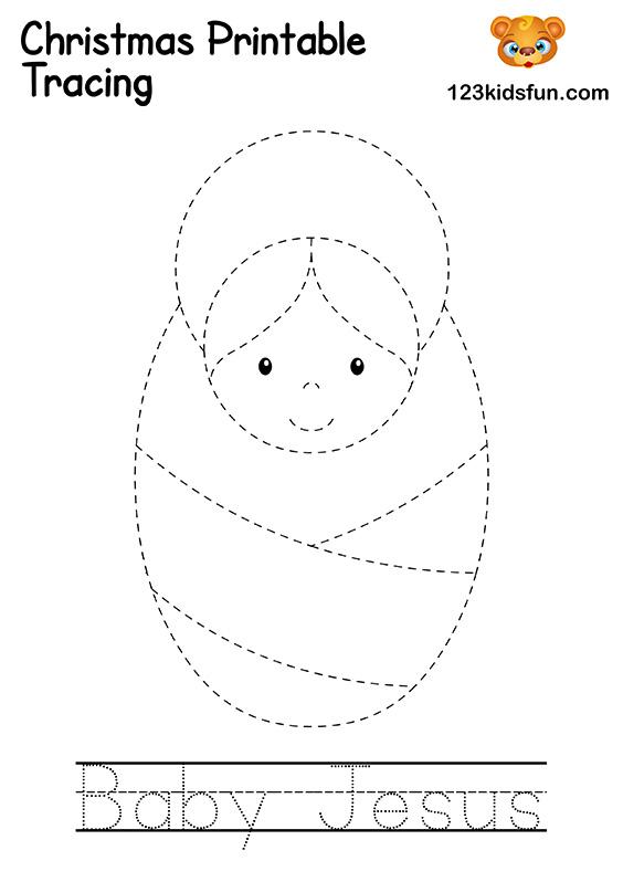 Christmas Tracing - Baby Jesus