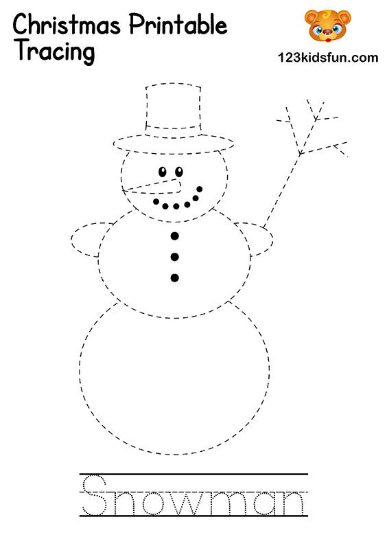 Christmas Tracing - Snowman