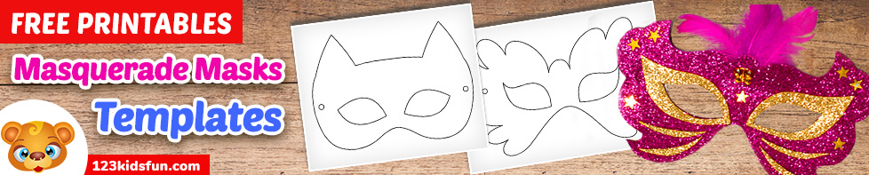 Free Printable Masquerade Masks Template for Kids