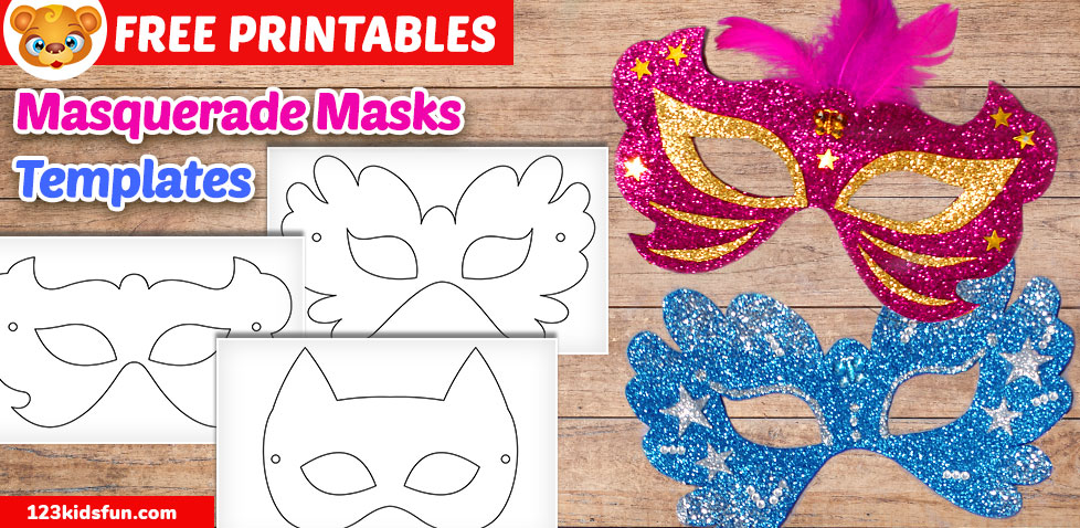 graphic relating to Free Printable Masks Templates referred to as Totally free Printable Masquerade Masks Template 123 Children Pleasurable Programs