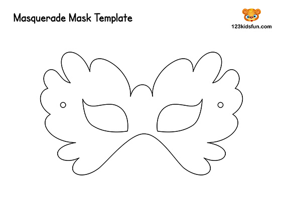 picture about Free Printable Masks Templates referred to as Cost-free Printable Masquerade Masks Template 123 Young children Pleasurable Applications