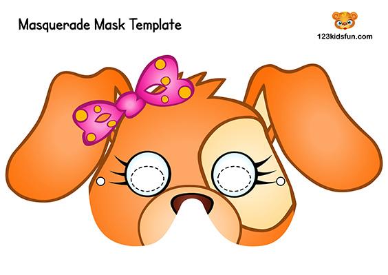 Printable Animal Mask for Kids: Dog