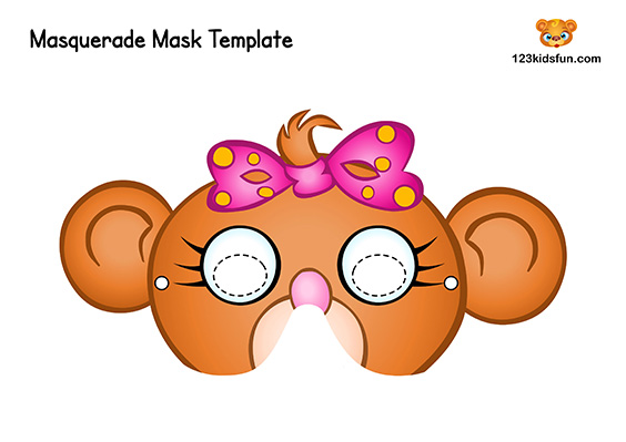 photo regarding Printable Monkey Masks titled No cost Printable Masquerade Masks Template 123 Young children Entertaining Programs