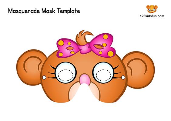 Printable Monkey Mask Template for Kids