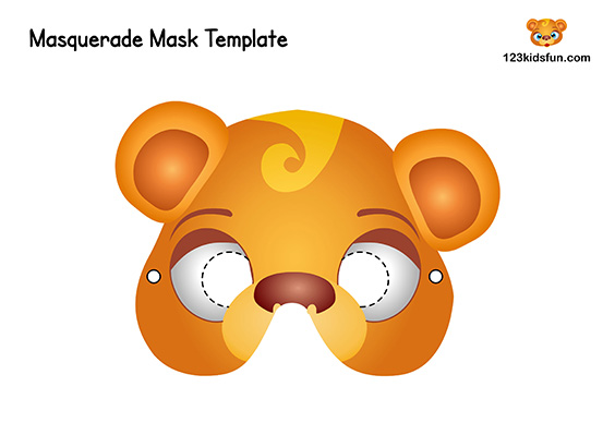 Printable Animal Mask Template for Kids