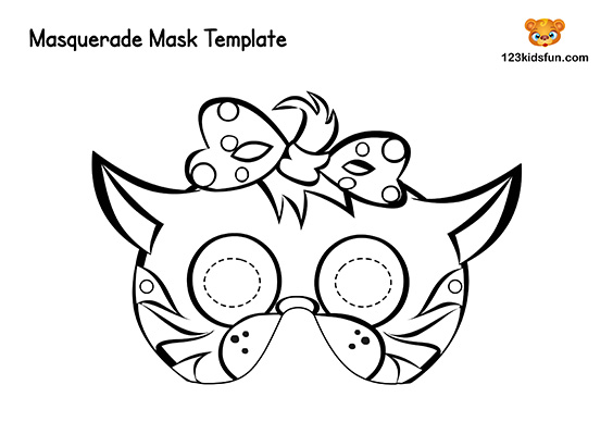 picture relating to Free Printable Masks named Absolutely free Printable Masquerade Masks Template 123 Youngsters Entertaining Purposes