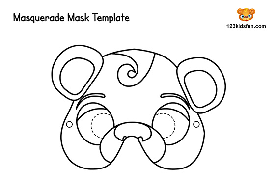 Animals Printable Coloring Masks
