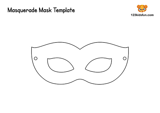 picture regarding Printable Monkey Masks named Free of charge Printable Masquerade Masks Template 123 Young children Exciting Applications