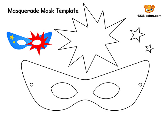 photograph regarding Printable Mask Templates called Cost-free Printable Masquerade Masks Template 123 Young children Entertaining Applications