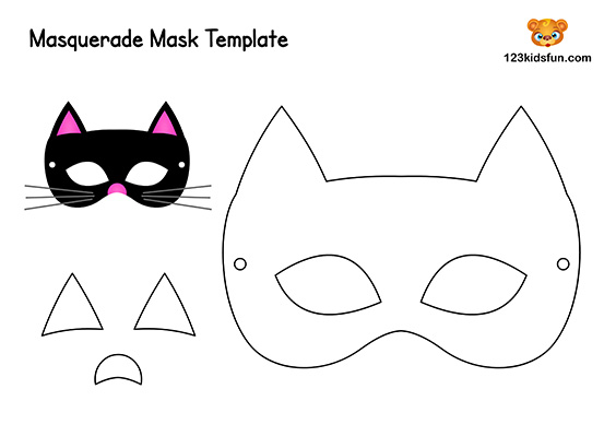 Kids Crafts: Cat Mask Template for Kids