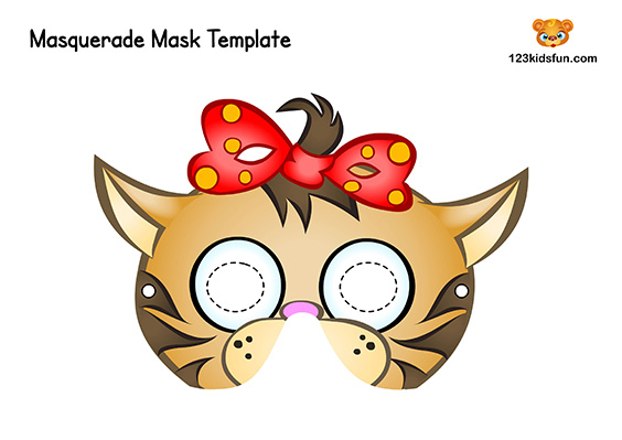 Printable Animal Mask for Kids: Cat