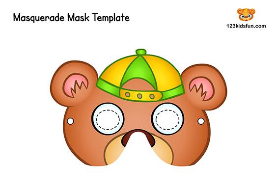 Printable Animal Mask for Kids: Bear