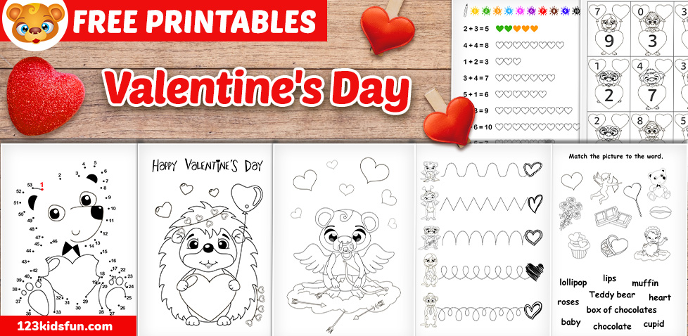 Free Valentine's Day Worksheets