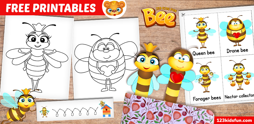 Bee – Free Printables for Kids