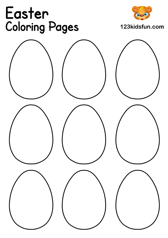 Easter Eggs Template