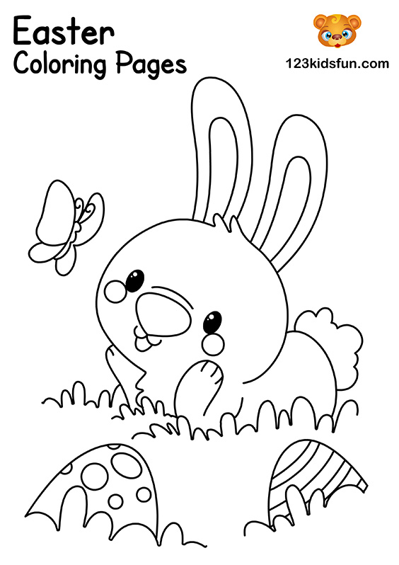 Easter Bunny Coloring Pages