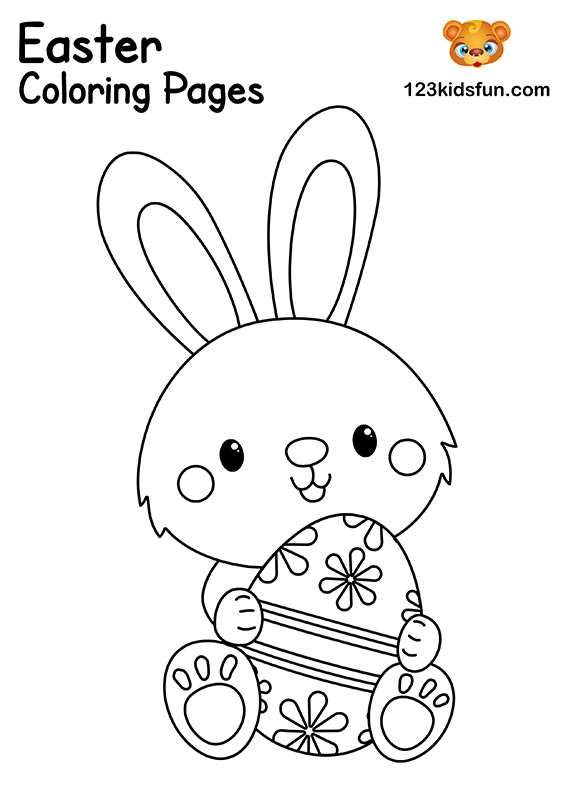 Happy Easter Chick. Coloring Page Illustration 18908518 - Megapixl | 798x564