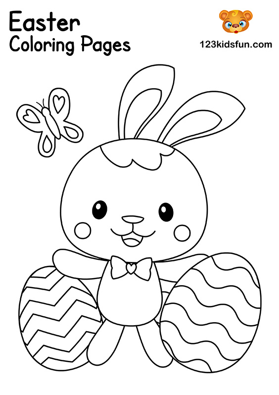 Free Easter Coloring Pages for Kids | 123 Kids Fun Apps
