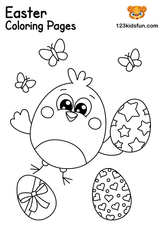 Easter Chick Coloring Pages