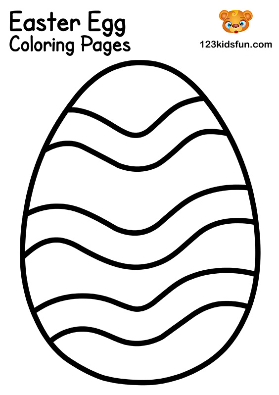 EFree Easter Egg Coloring Pages
