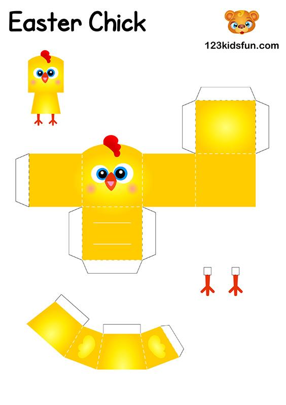 DIY Easter Craft for Kids - Easter Chick