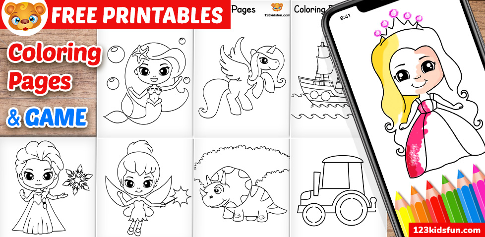 Free Printable Coloring Pages For Kids And Toddlers 123 Kids Fun Apps
