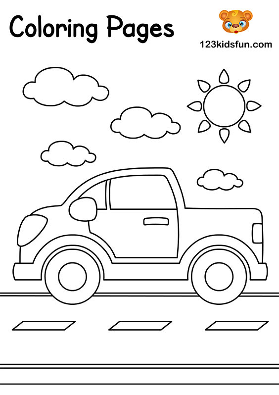 17+ Car Coloring Pages - Free Printable Word, PDF, PNG, JPEG, EPS ... | 798x564