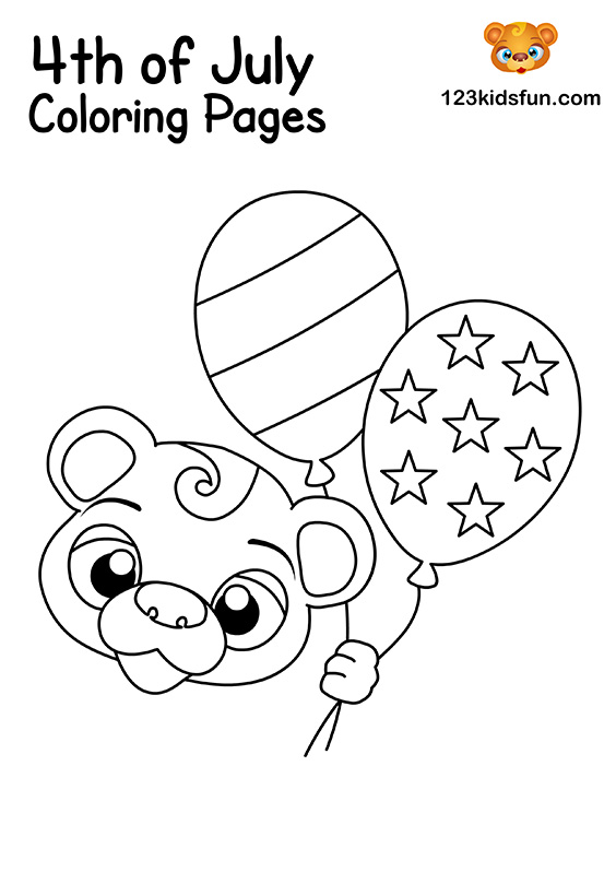 American Independence Day Coloring Pages for Kids