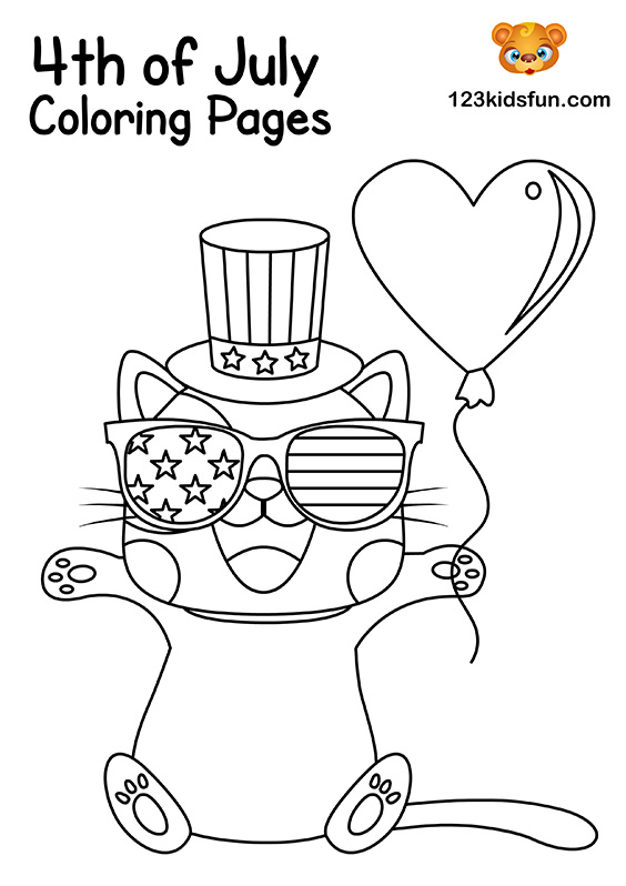 4th Of July Coloring Pages For Kids 123 Kids Fun Apps