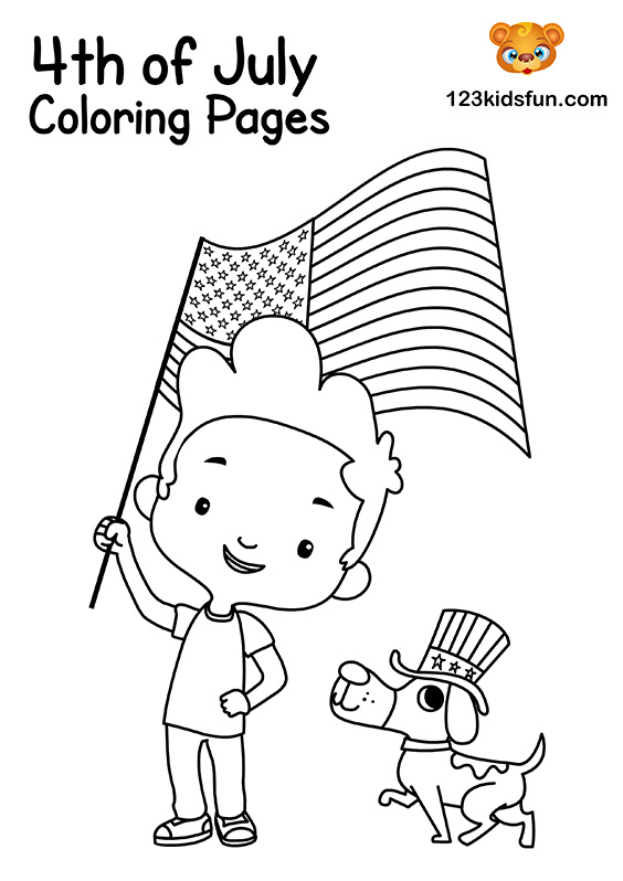 Freedom Flag Coloring Pages for Kids