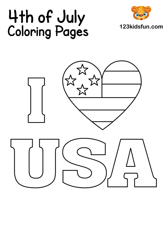 I Love USA Coloring Pages