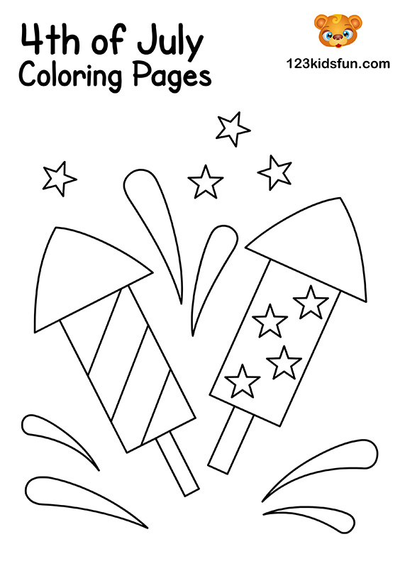 July 4th Fireworks Coloring Pages