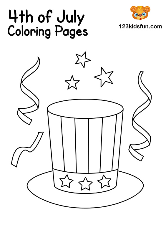 Uncle Sam Hat Coloring Pages