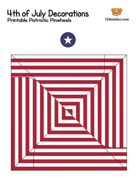 Printable Patriotic Pinwheels - Crafts for Kids