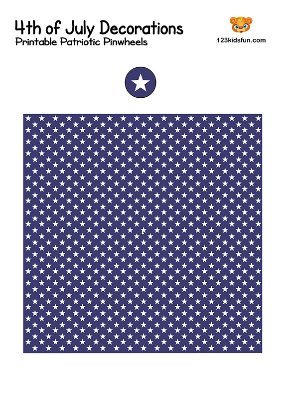Printable Patriotic Pinwheels - 4th of July Decorations