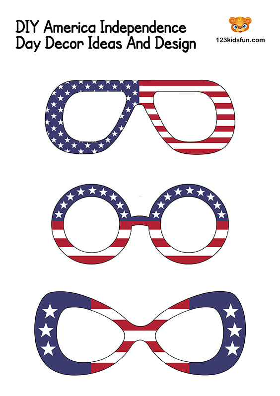 Patriotic Glasses - 4th of July Decorations
