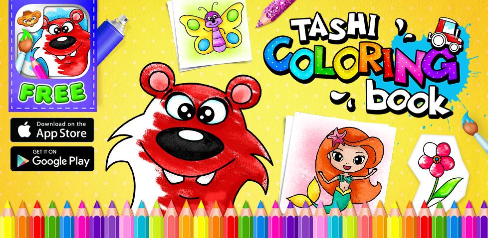 Tashi Coloring Book