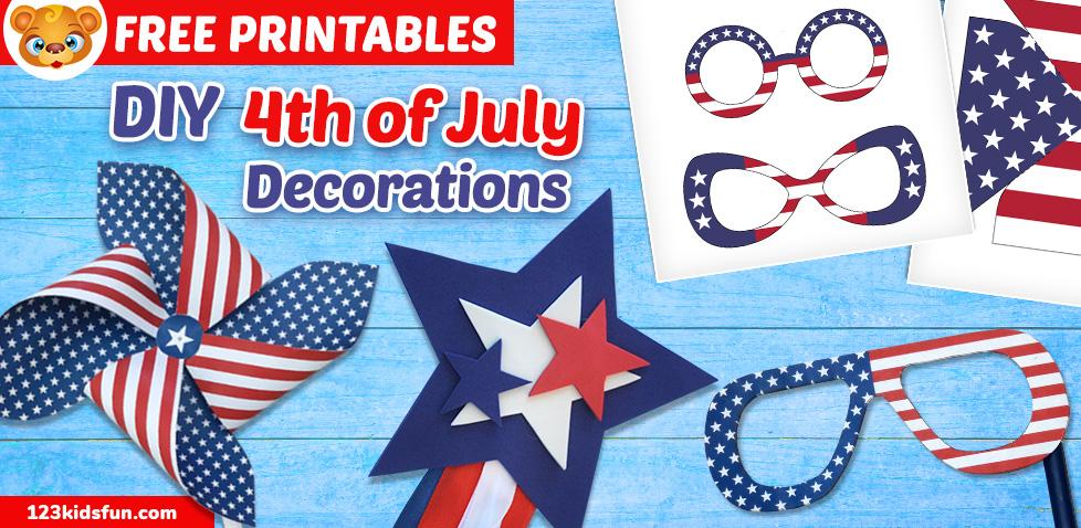 DIY 4th of July Patriotic Decorations