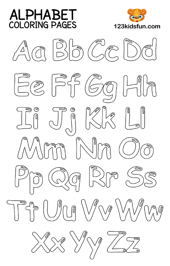 Abc Letters Coloring Pages Www.robertdee.org