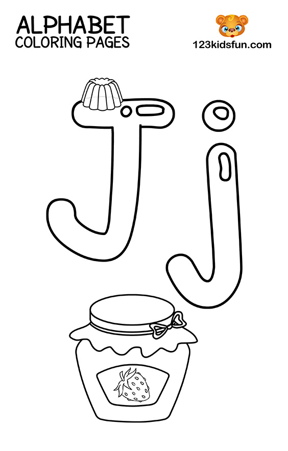 Alphabet Coloring Pages - J is for Jam
