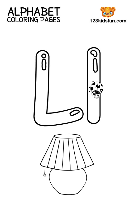 Alphabet Coloring Pages - L is for Lamp