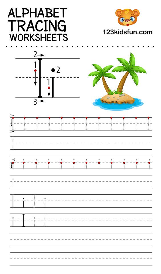 alphabet tracing i